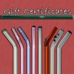 Unique Gift Certificates - Artistic Reusable Glass Drinking Straws